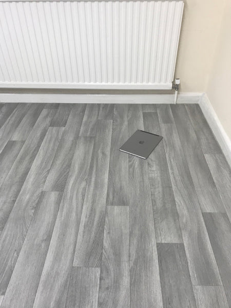 Grey Vinyl Lino Roll Flooring Ideal For Kitchens