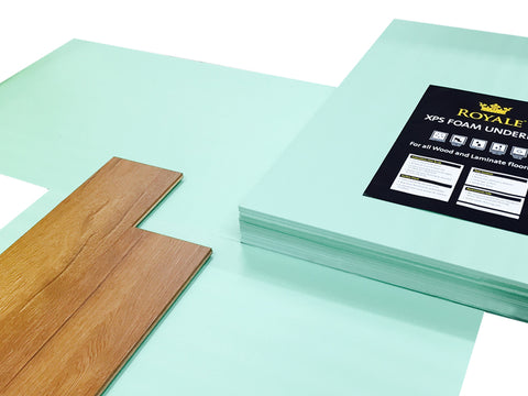 XPS Underlay - Wood or Laminate Flooring - 5mm - Like Fibreboard - Insulation