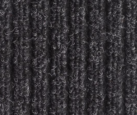 Bruce Starke Fairisle Barrier Matting in Anthracite with vertical grooves