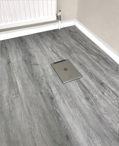 Grey LVT Vinyl Click Plank Flooring - 4.2mm Thick - Water Resistance - 25 Years Warranty