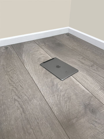 8mm Laminate Flooring - Stone Oak Effect - V Groove - AC4 Rated - Click System