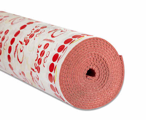 Tredaire Colours Red Full Roll of Carpet Underlay