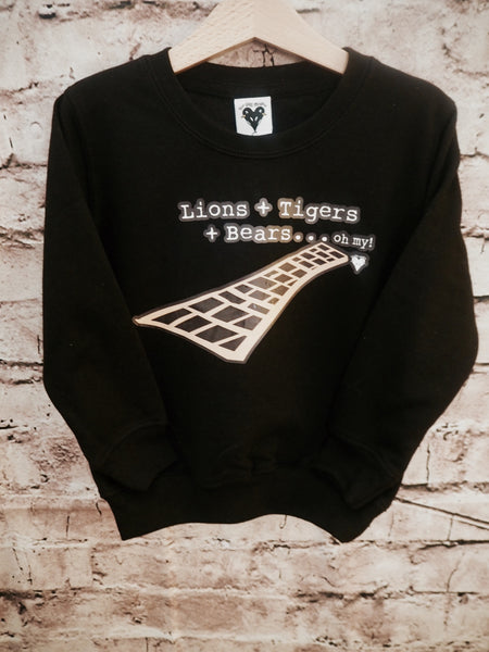 Lions, tigers and bears 'Oz' sweater
