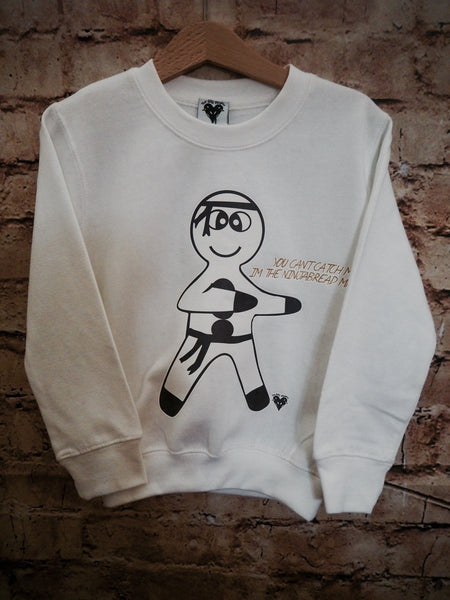 'Ninja bread Man' sweater in white