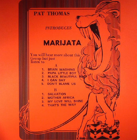 Marijata - Pat Thomas Introduces Marijata LP - AguirreRecords