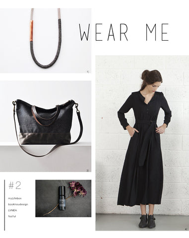 Wear Me #2: Black, Bag, Flowers