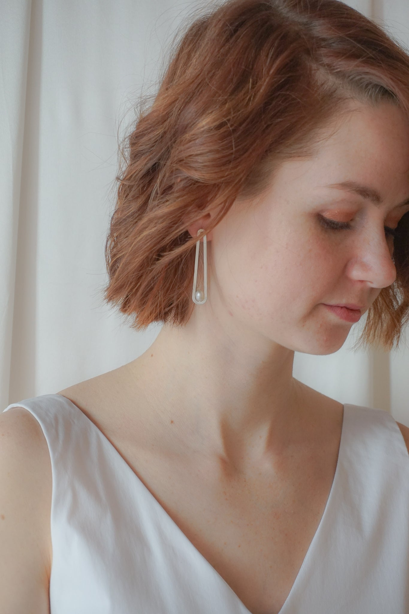 long oval bridal earrings for your wedding day
