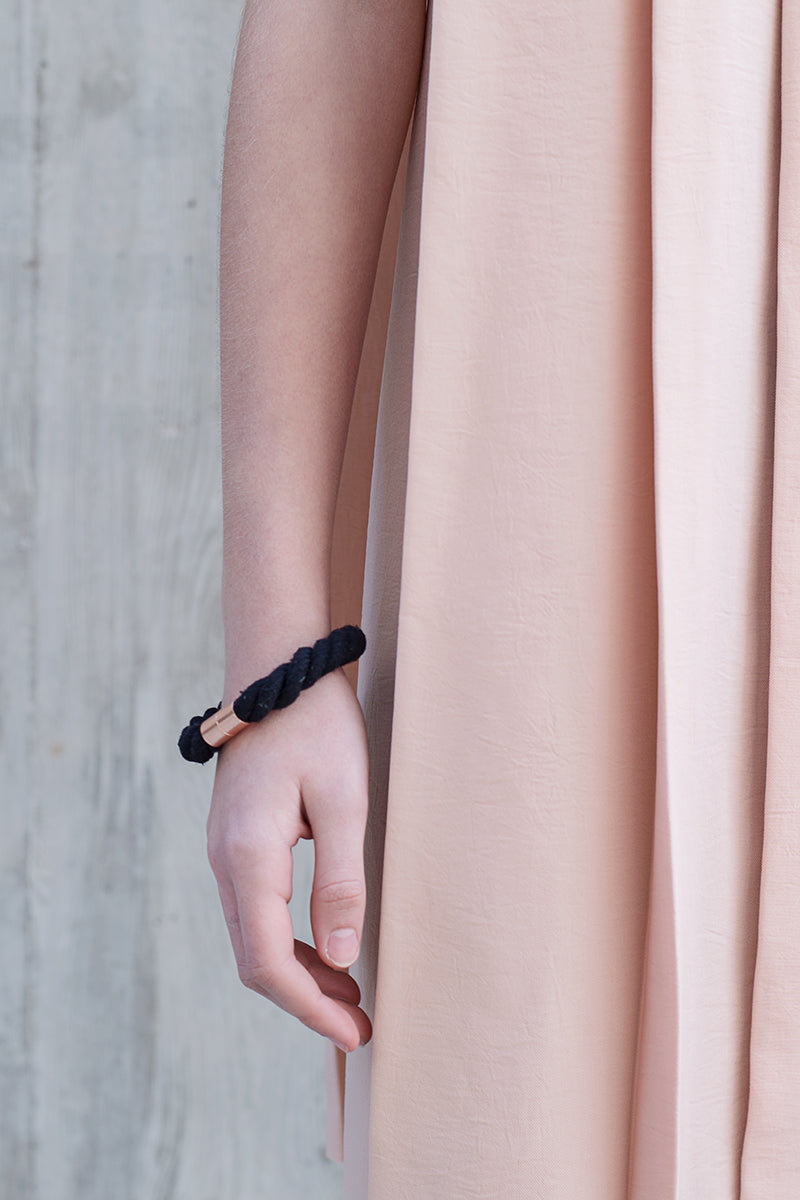 mylifebox lookbook minimalist statement bracelet black rodos