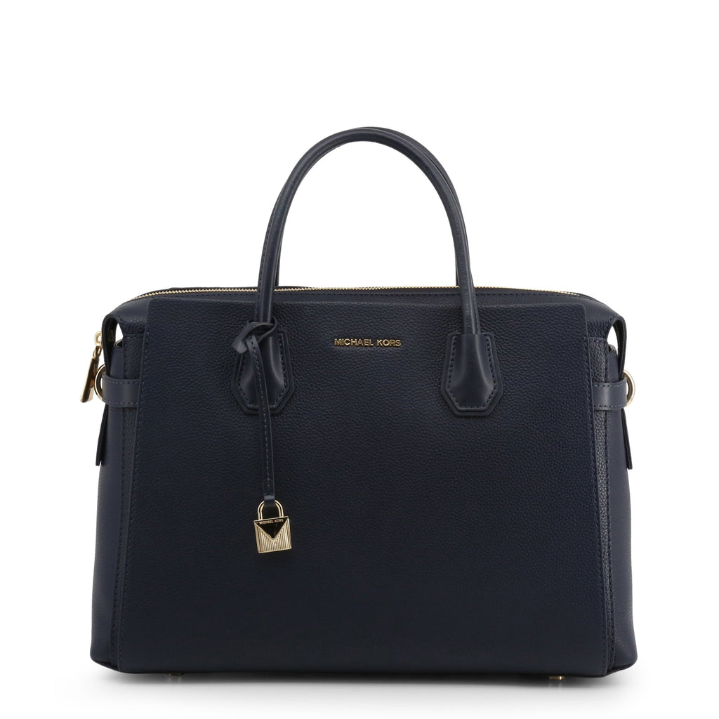Michael Kors Mercer Large Pebbled Leather Belted Satchel
