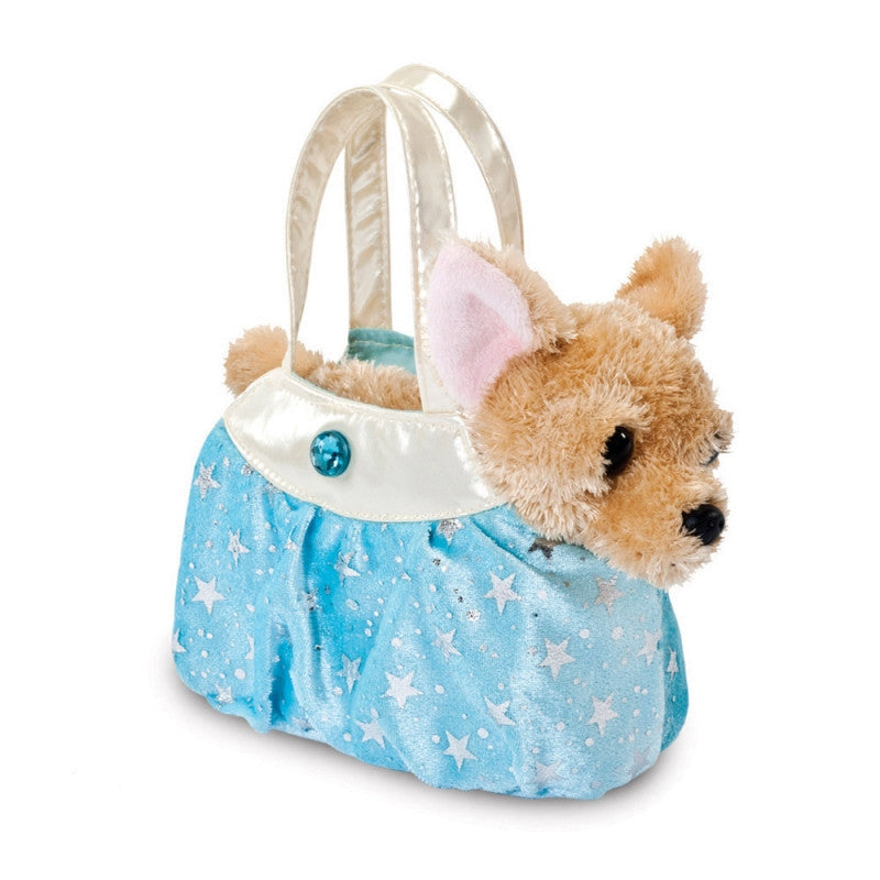 Fancy Pal Chihuahua `Shimmery Ice Blue' plush toy 8In / 20 cm