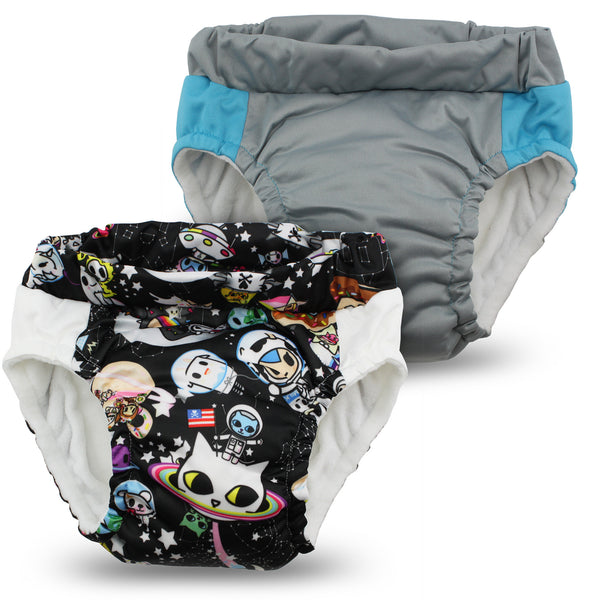 tokidoki x Kanga Care Lil Learnerz Training Pants - tokiSpace & Platinum 2 pack