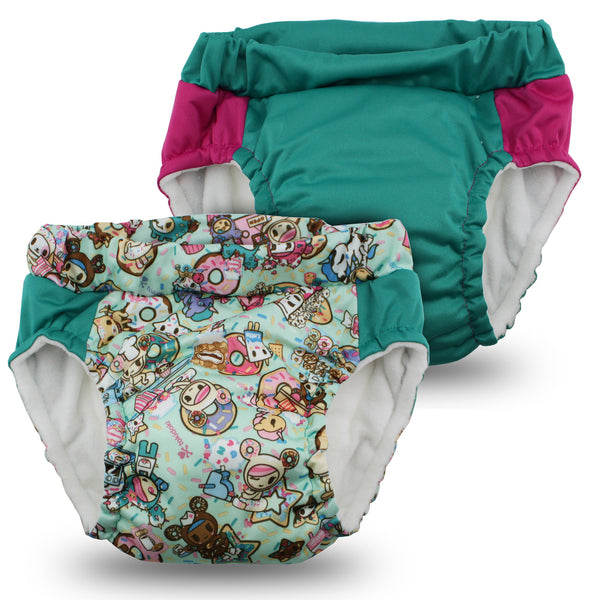 tokidoki x Kanga Care Lil Learnerz Training Pants - tokiTreats & Peacock 2 pack