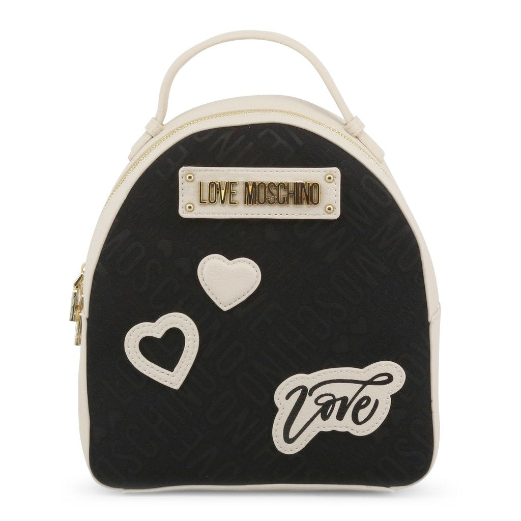 Love Moschino Faux Leather Backpack With Jacquard Embroidery