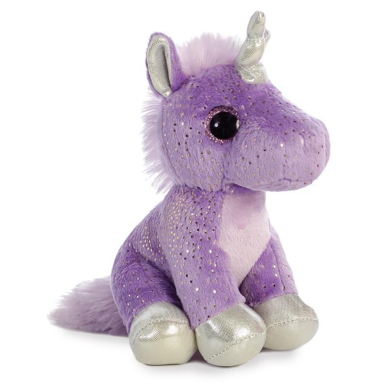 Sparkle Tales Sprinkles Purple Unicorn plush toy 7In / 18 cm