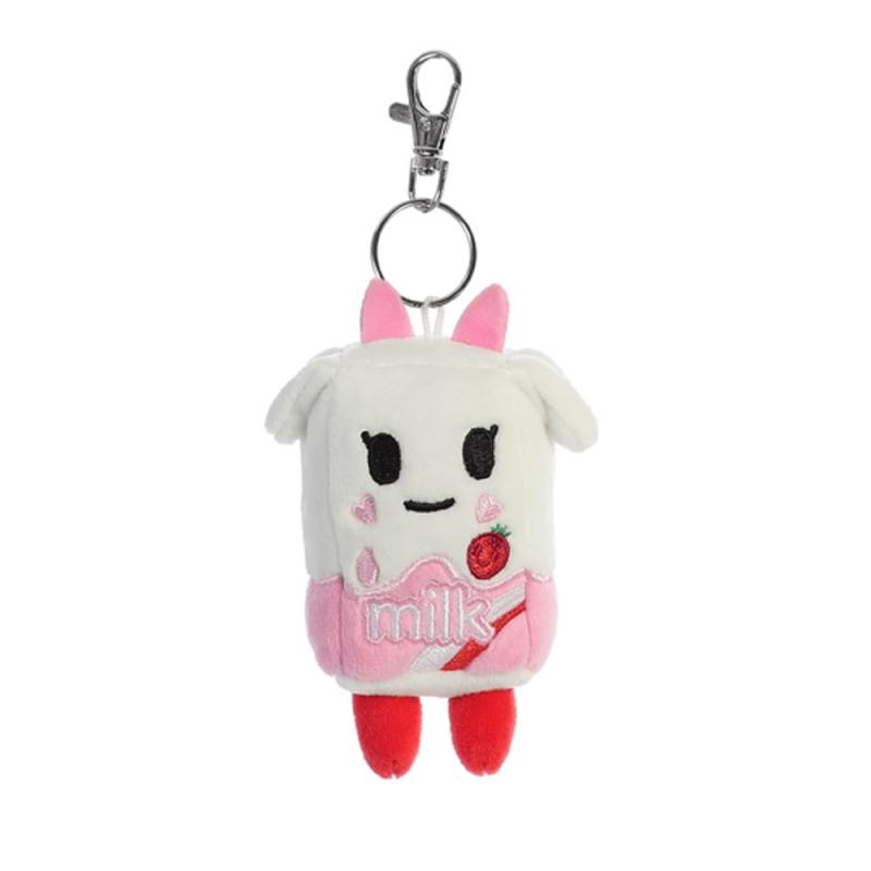 "Tokidoki Strawberry Milk Plush key clip 4.5"" / 11 cm"