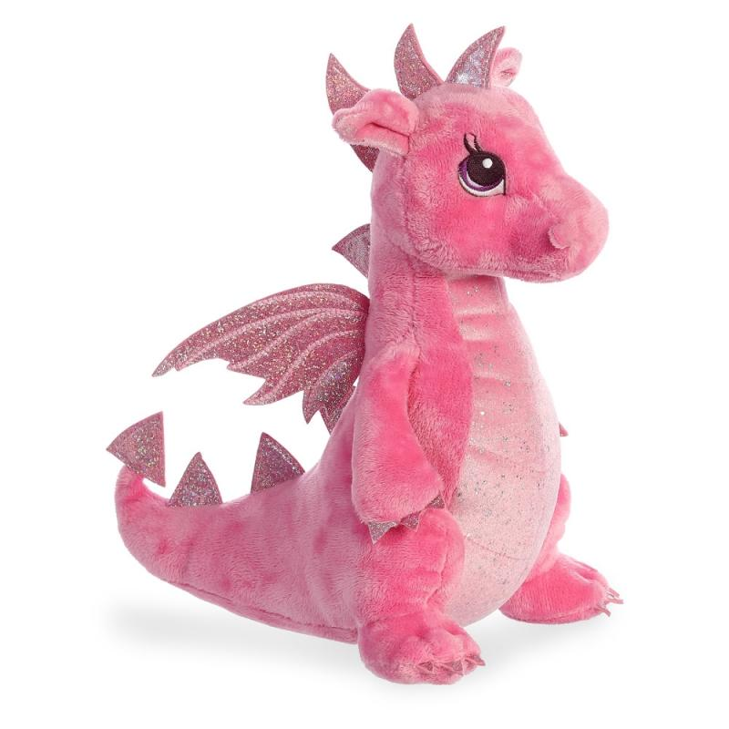 Sparkle Tales Dahlia Pink Dragon plush toy 12In / 30 cm