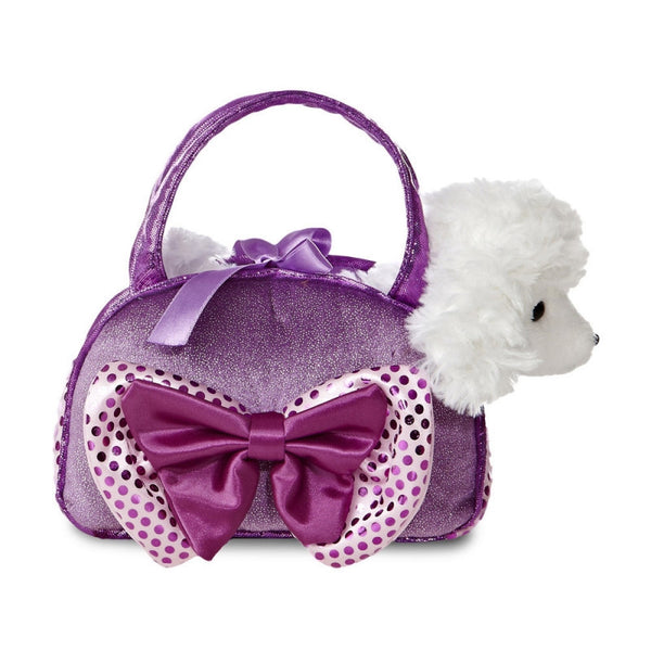 Fancy Pal Poodle Purple with Bow plush toy 8In / 20 cm