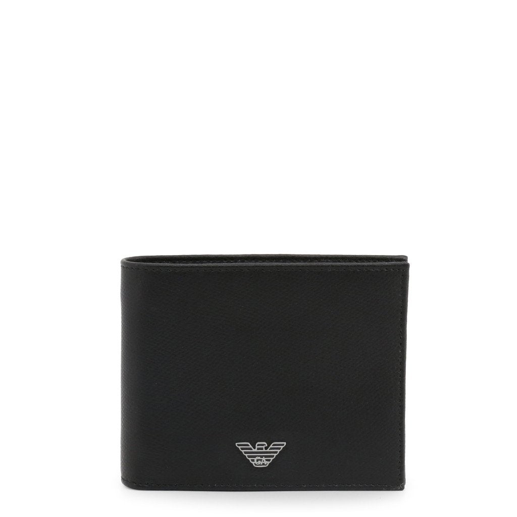 Emporio Armani Bi-fold Wallet In Printed And Boarded Leather