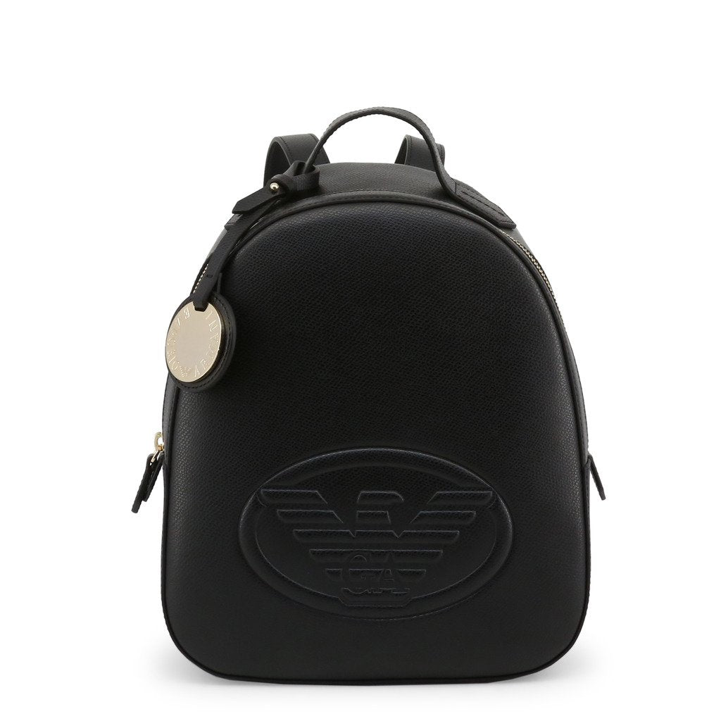 Emporio Armani Leatherette Backpack With Logo And Charm