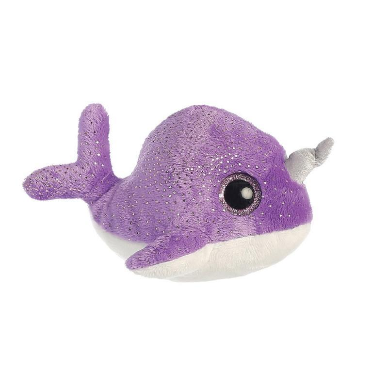 Naree Purple Narwhal  plush toy 5In / 13 cm