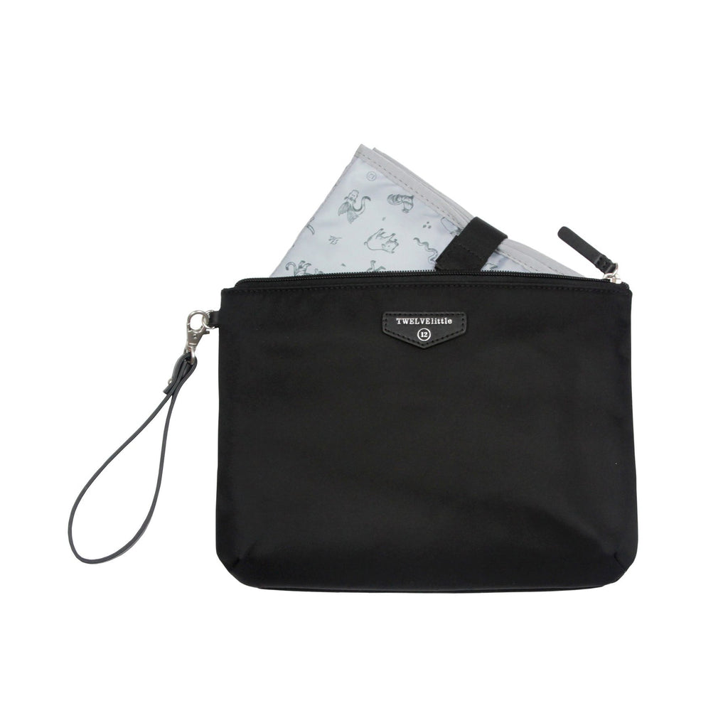 TWELVElittle Easy Diaper Pouch in Black