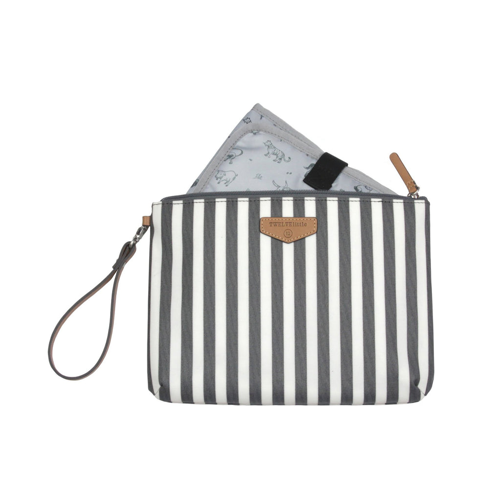 TWELVElittle Easy Diaper Pouch in Stripe Print