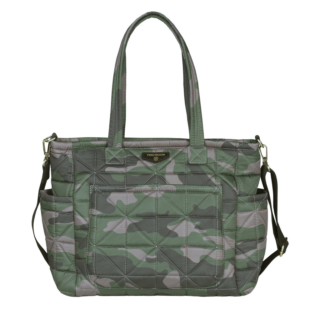 TWELVElittle Carry Love Tote in Camo Print