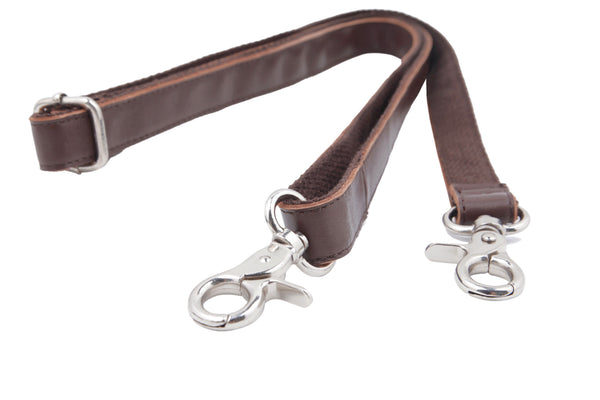 Insjö leather shoulder strap Brown