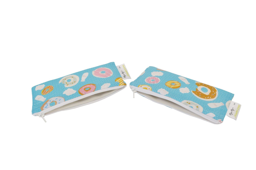 Itzy Ritzy Snack Happens Mini 2-pack Reusable Snack and Everything Bag Donut Shop