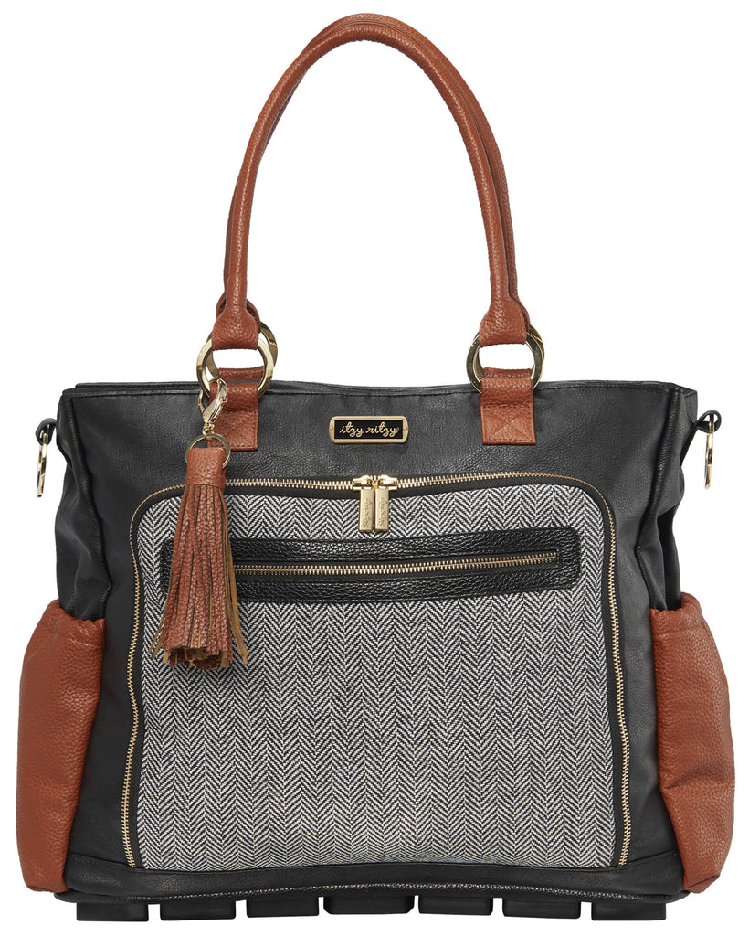 Itzy Ritzy Tribe Tote diaper bag in Coffee & Cream
