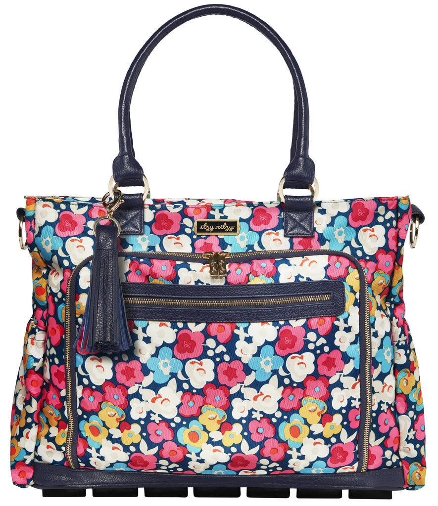 Itzy Ritzy Tribe Tote diaper bag in Posy Pop