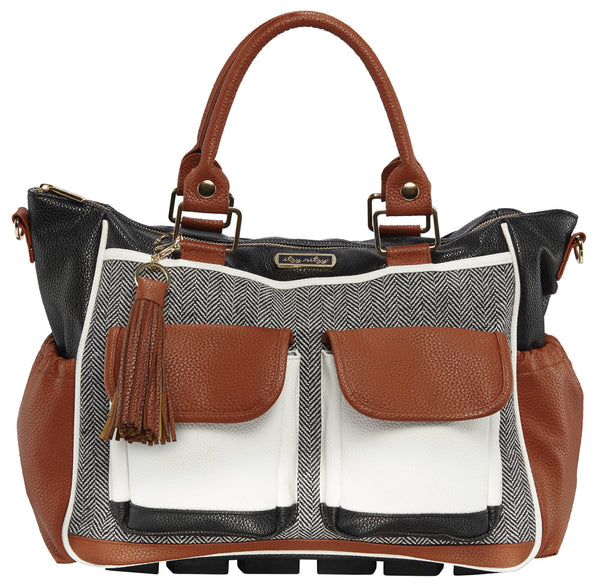 Itzy Ritzy Triple Threat Convertible Diaper Bag in Coffee & Cream