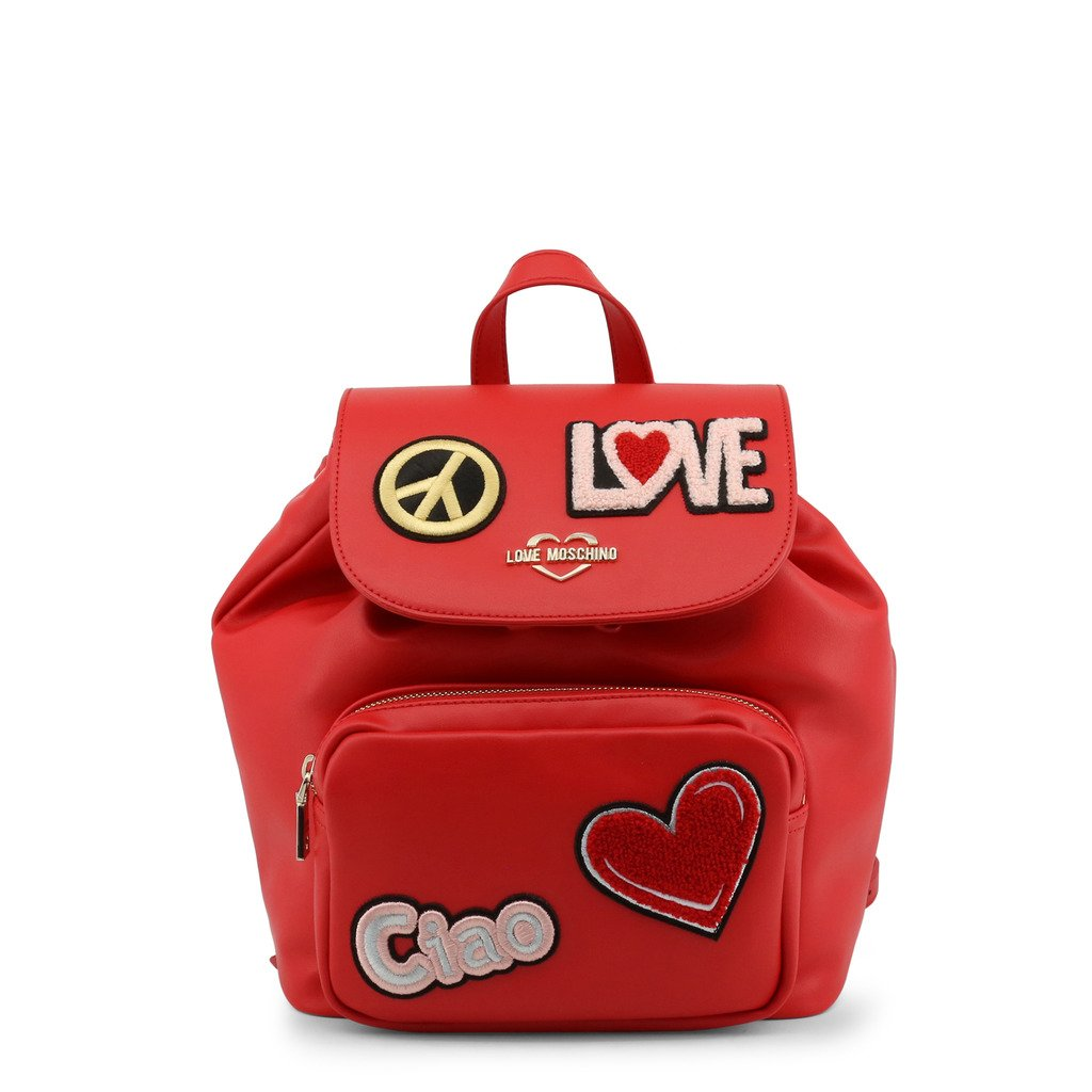 Love Moschino Faux Leather Backpack With Patch