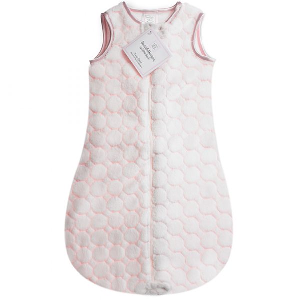 SwaddleDesigns zzZipMe Sack Pastel Pink Puff Circle