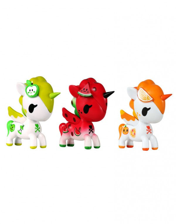 tokidoki Unicorno Fruit 3-Pack vinyl collectibles