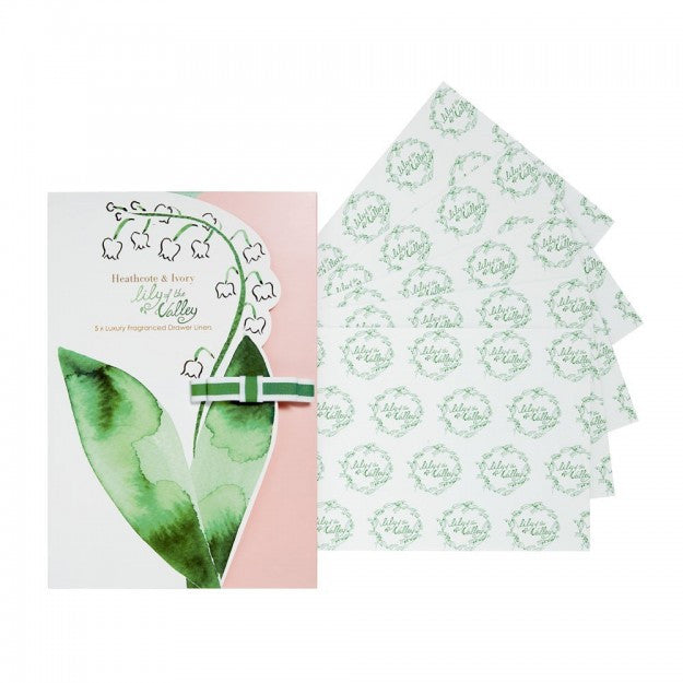 Set de 5 hartii parfumate Lily of the Valley