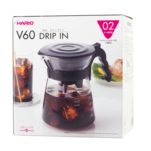 Hario V60  Drip In Server - dripper + server + 40 filters