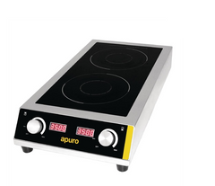 Apuro Heavy Duty Double Induction Cooktop 7kW - GF239-A