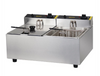 Image of Apuro Double Pan Bench Top Fryer 2 x 5Ltr - DL891-A
