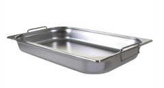 Vogue Stainless Steel 1/1 Gastronorm Pan with Handles 65mm - CB178-A
