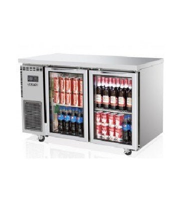 SKIPIO Underbench Fridge - 2 Glass Doors - SGR12-2
