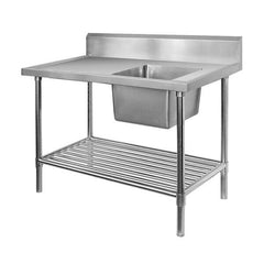 FED Single Right Sink Bench with Pot Undershelf - SSB6-2400R/A