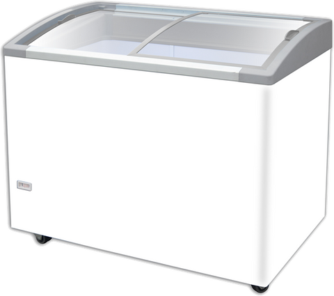 AJ Baker Slim line curved Glass Chest Freezer - DELTA 725AT