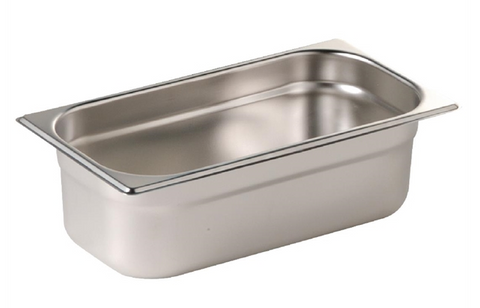 Vogue Stainless Steel 1/3 Gastronorm Trays