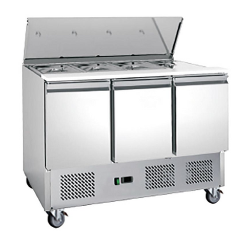 FED-X Three Door Salad Prep Fridge - XGNS1300S