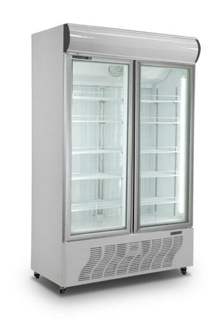 Huxford Glass Double Door Display Freezer - HF800 - OzCoolers