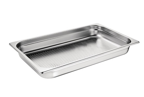 Vogue Stainless Steel Perforated 1/1 Gastronorm Trays