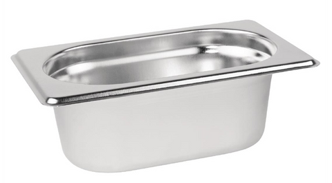 Vogue Stainless Steel 1/9 Gastronorm Trays