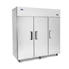 Image of Atosa Top Mount 3 Solid Door Upright Fridge - MBF8006 - OzCoolers