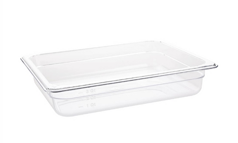 Vogue Clear Polycarbonate 1/2 Gastronorm Trays